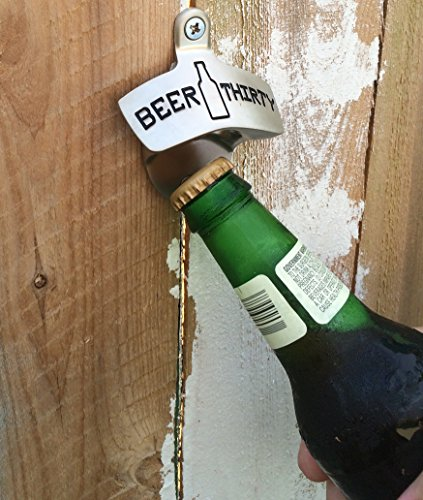 Barware Gear Wall Mounted Bottle Opener Beer Thirty With
