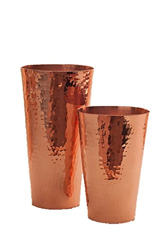 Premium Hammered Solid Copper Cocktail Shaker With Muddler