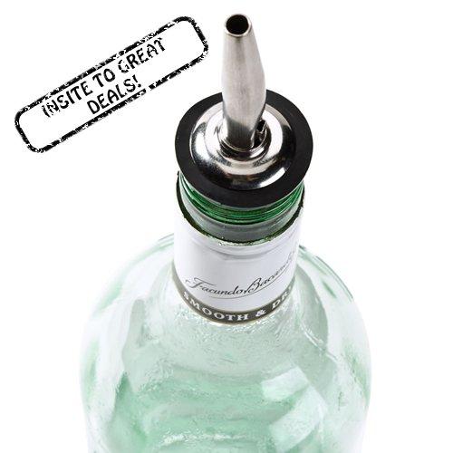 1 Olive Oil Liquor Wine Free Flow Bottle Pourer Dispenser