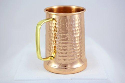 Alchemade Copper Beer Stein 100 Pure Hammered Copper