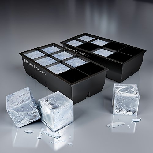 Best Ice Cube Trays 2 Large Silicone Pack 16 Giant 2