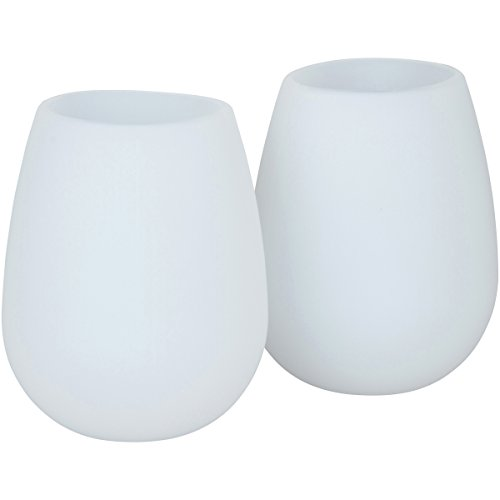 brinkvine set of 2 unbreakable wine glasses 12 oz flexible stemless dishwasher safe reusable. Black Bedroom Furniture Sets. Home Design Ideas
