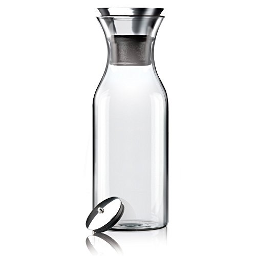 Hiware 35 Oz Gl Drip Free Carafe With Stainless Steel Silicone Flip Top Lid Water