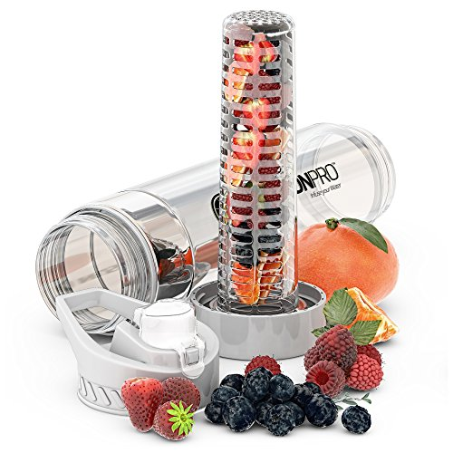 Infusion Pro Premium Fruit Infused Water Bottle (2 Pack Or