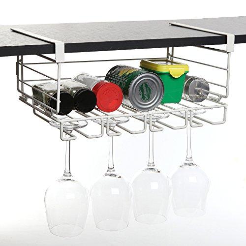 modern white metal under shelf hanging kitchen storage. Black Bedroom Furniture Sets. Home Design Ideas