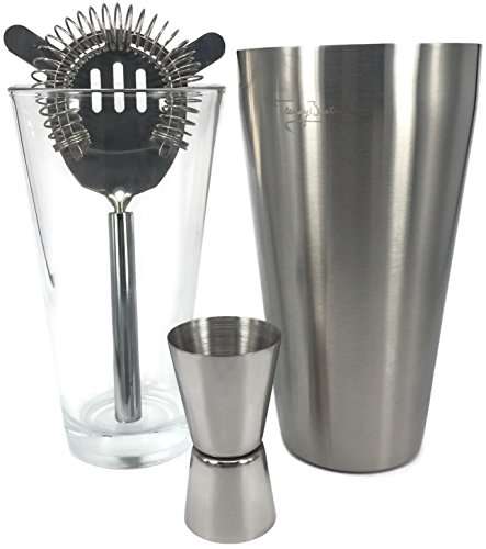 premium boston shaker set by trendy bartender 28 fl oz brushed stainless steel bartender. Black Bedroom Furniture Sets. Home Design Ideas