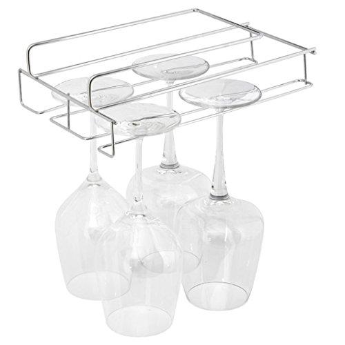stemware hanging wine glass rack holder frame hanger under. Black Bedroom Furniture Sets. Home Design Ideas