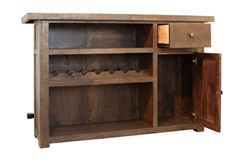 Wine bar liquor cabinet expanding top entertainment