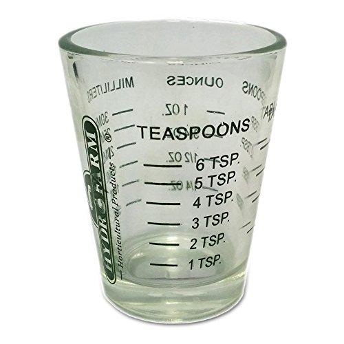 1 X Mini Measure ® Mini Measuring Shot Glass Measures 1oz ...