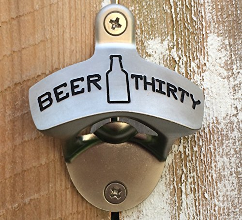 Stainless Steel Wall Mount Bar Beer Glass Cap Bottle Opener With ScrewRCUSNIUS