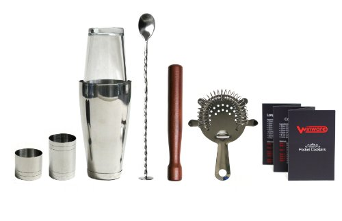 Winware Boston Cocktail Shaker Gift Set And Pocket