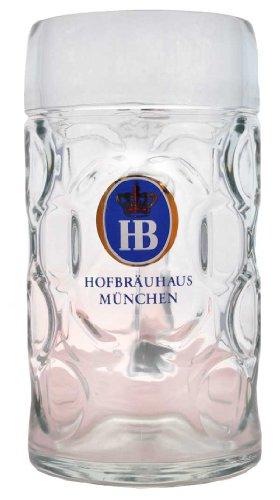 1 x 0 5 liter hb hofbrauhaus munchen dimpled glass beer stein great bartender. Black Bedroom Furniture Sets. Home Design Ideas