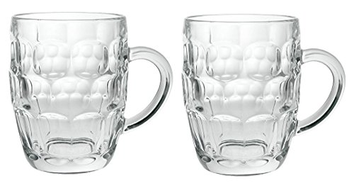Arcoroc Britannia Set of 2 British Glass Beer Mug 20oz / 1 Pint