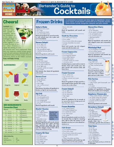 Bartender S Guide To Cocktails Quickstudy Home Great