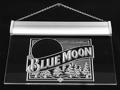 A167-b Blue Moon Beer Bar Pub Logo Neon Light Sign - Great