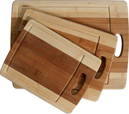 Cc Boards 3 Piece Bamboo Cutting Board Set Wooden Butcher