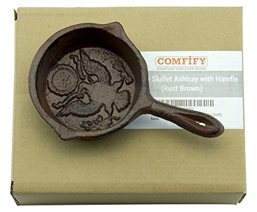 Decorative Outdoor Ashtrays For Home: Antique Skillet With Handle