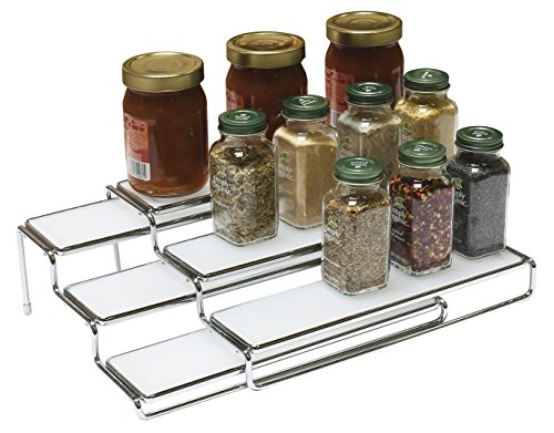 DecoBros 3 Tier Expandable Cabinet Spice Rack Step ...