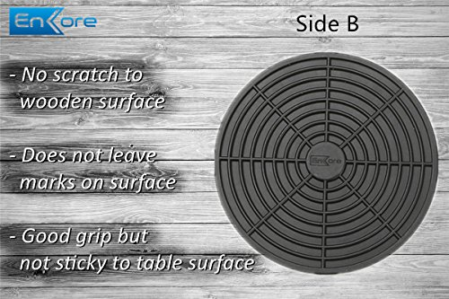 Enkore Drink Coasters Silicone Set Of 6 Black With