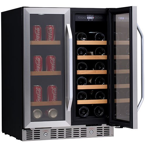Edgestar 24 Inch Built In Wine And Beverage Cooler With French Doors Great Bartender