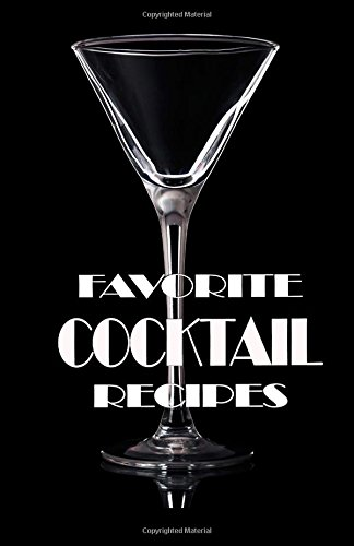 Favorite Cocktail Recipes Blank Recipe Book Great Bartender