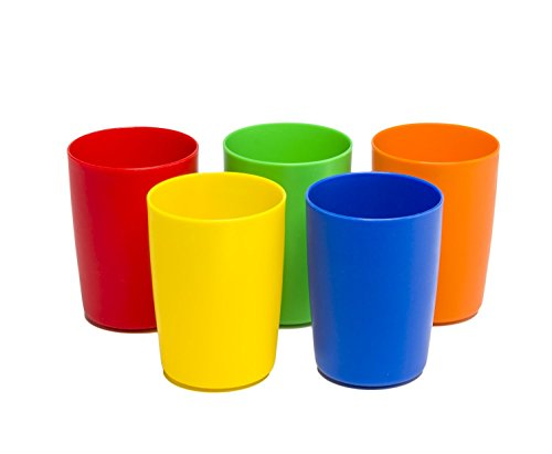 Greenco Set Of 5 Unbreakable Reusable Plastic Kids Cups