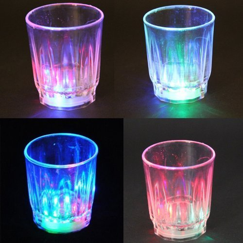 Besteker 24pcs Amazing Non Toxic Plastic Colorful Flashing