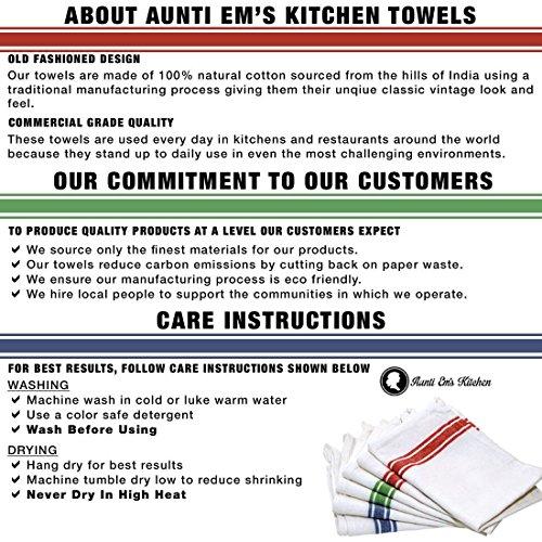 Kitchen Dish Towels with Vintage Design, Super Absorbent 100% Natural  Cotton Kitchen Towels (Size: 25.5\