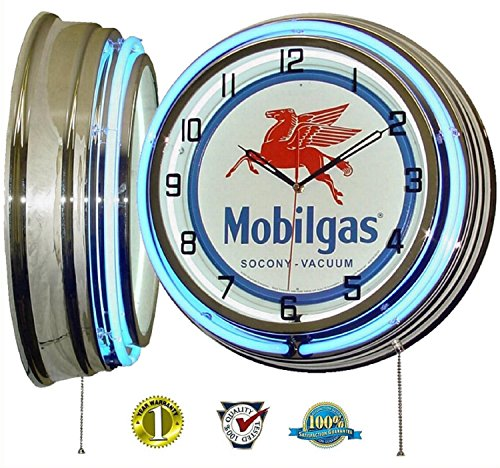 Mobil One Mobilgas Flying Pegasus 18 Quot Dual Neon Light Wall