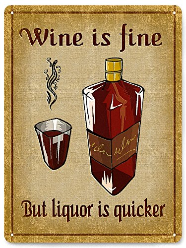 Metal Signs Liquor Whiskey Funny Vintage Style Mancave