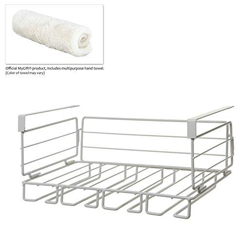 Modern White Metal Under Shelf Hanging Kitchen Storage Basket Organizer ...