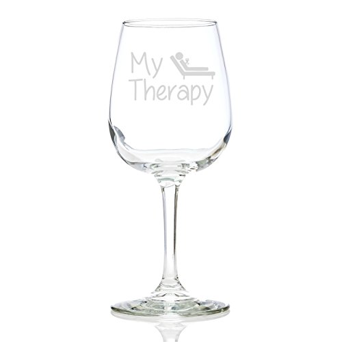 Good Christmas Gifts For The Wife: My Therapy Funny Wine Glass 13 Oz