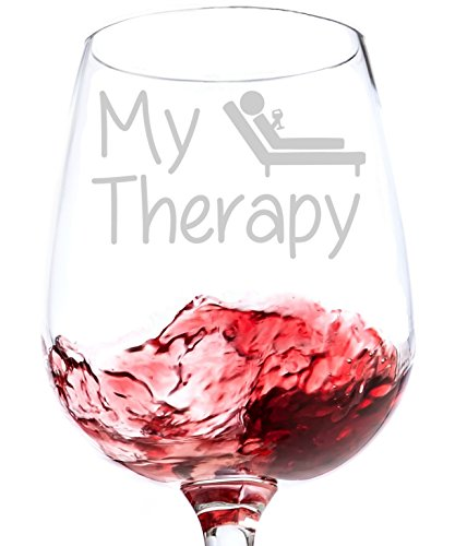 my therapy funny wine glass 13 oz best christmas gifts for women - Best Christmas Gifts For Women