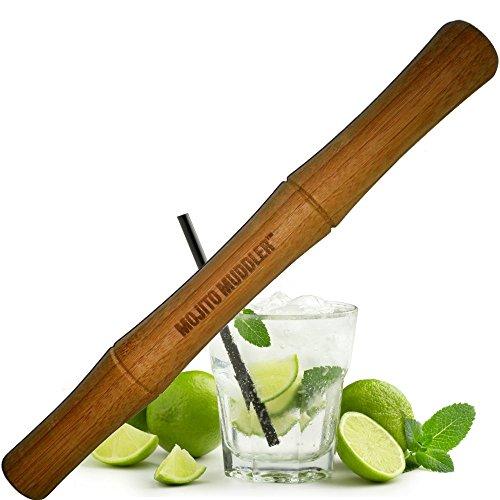 Mojito Muddler 11 Inch Professional Grade Bamboo Best