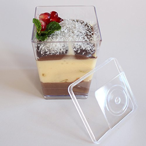 Supacute Desserts Plastic Dessert Cups Set Of 24 Clear