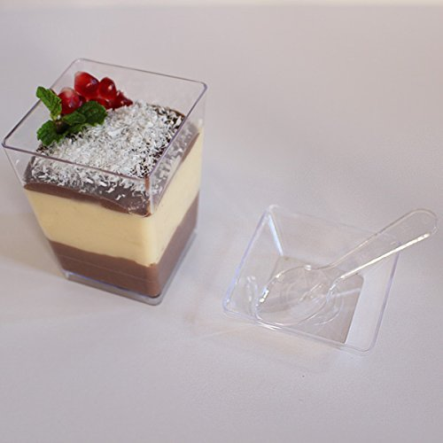 Supacute Desserts Plastic Dessert Cups Set Of 24 Clear