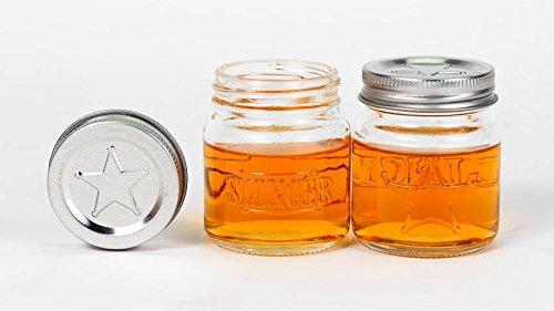 The Slinger Shot Glasses Set Mini Mason Jars With Lids 5 Pack