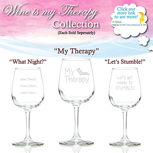 My Therapy Funny Wine Glass 13 Oz Best Christmas Gifts For Women Unique Birthday Gift Her Humorous Xmas Present Idea A Mom Wife Girlfriend