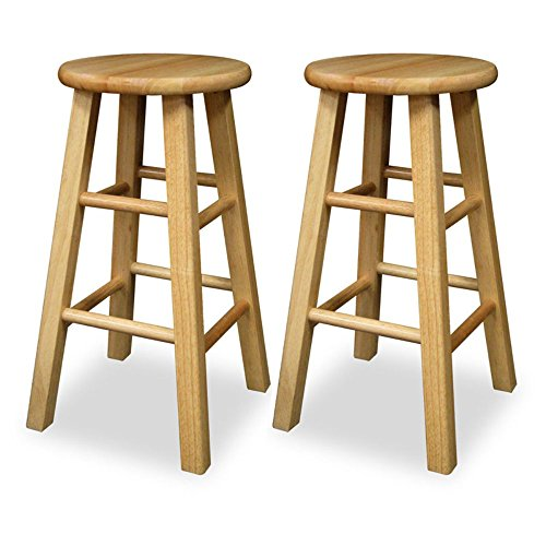 Pleasing Winsome 24 Inch Square Leg Counter Stool Set Of 2 Pabps2019 Chair Design Images Pabps2019Com