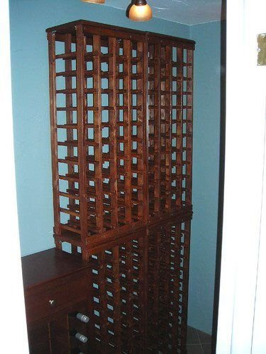 40 Bottle Wooden Wine Rack Unfinished Pine38h X 17w X 105d