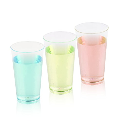 200 Piece Drinking Cup Beer Cup Disposable Plastic Cups Transparent 0,3 Litre
